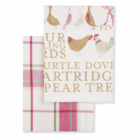 12 Days of Christmas Set of 2 Tea Towels
