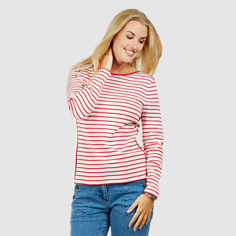 Piped Trim Stripe Top
