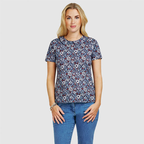 Peter Pan Collar Floral Print Top