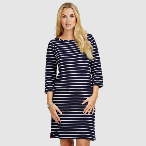 Midi Nautical Pique Dress