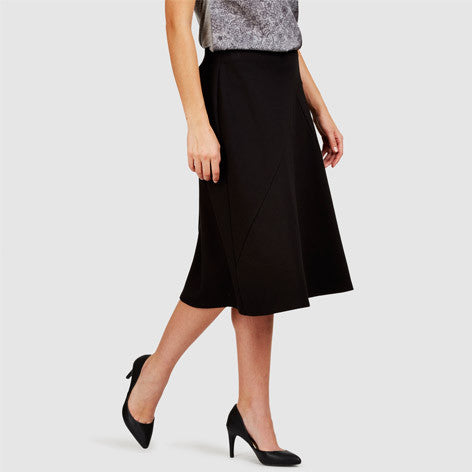 Fit and Flare Ponte Skirt