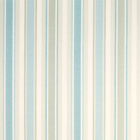 Awning Stripe Duck Egg/Pistachio Fabric