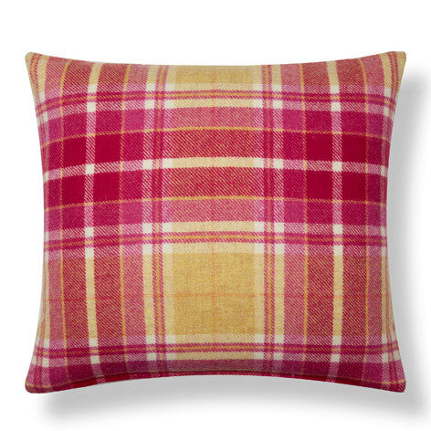 Mulholland Grapefruit Check Decorative Cushion