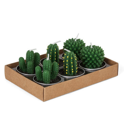 Set of 6 Cacti Tealights