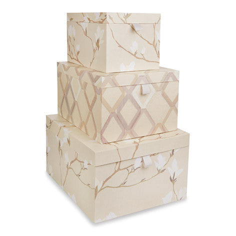 magnolia grove set of 3 storage boxes