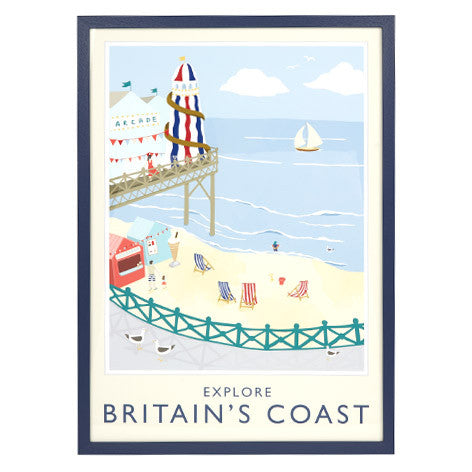 Explore Britain's Coast Framed Print