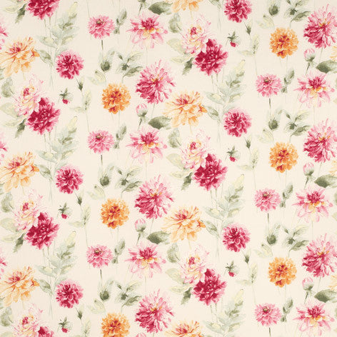 Dahlia Parade Pink Grapefruit Wallpaper