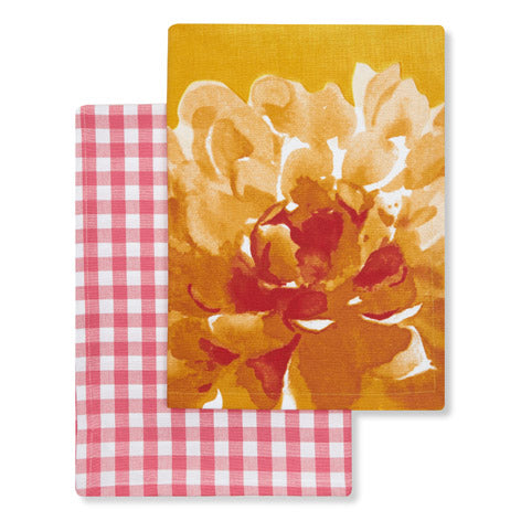 Floral Heritage Set of 2 Tea Towels