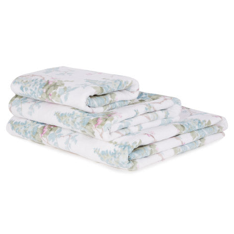 Wisteria Duck Egg Bath Towel