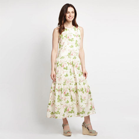 Floral Print Peasant Maxi Dress