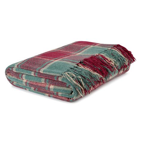 Henford Cranberry Chenille Throw