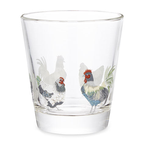 Chickens Glass Tumbler