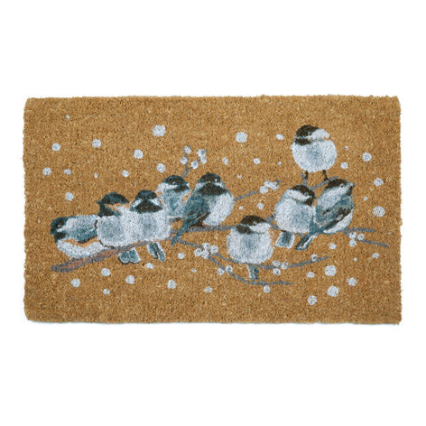 Winter Birds Doormat