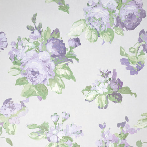 Violetta Silver White Wallpaper