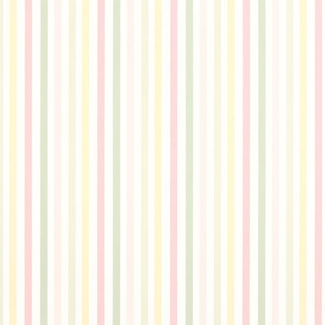 Cornish Stripe Blush Wallpaper