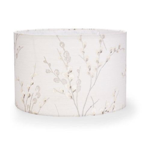 Pussy Willow Dove Grey Drum Shade