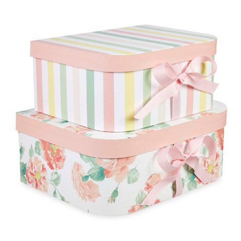 Tearose Storage Boxes Set of 2