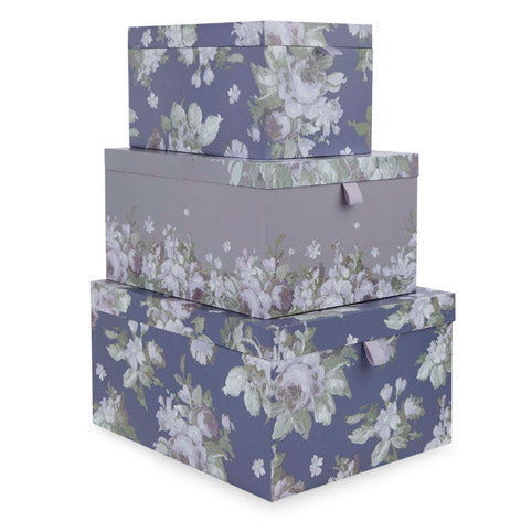 French Romantic Storage Boxes Set of 3