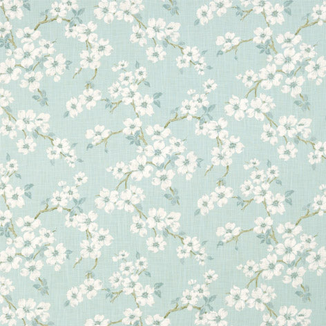 Iona Duck Egg Curtain Fabric