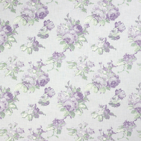 Violetta Silver White Curtain Fabric