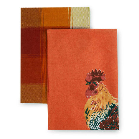 Set of 2 Cockerel Tea Towels