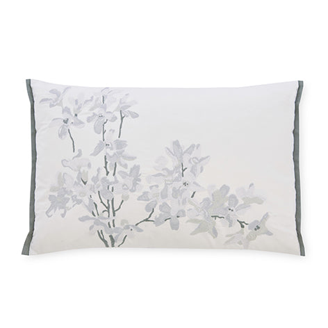 Forsythia Embroidered Natural Cushion