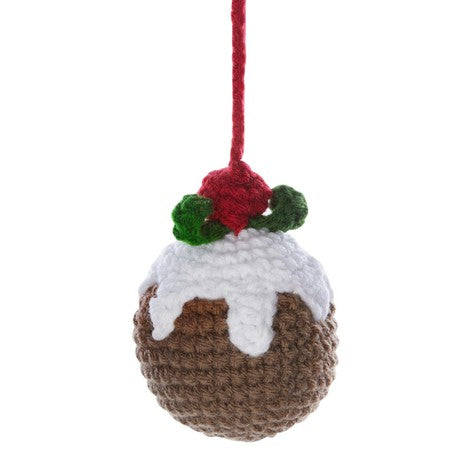 Crochet Christmas Pudding Tree Decoration
