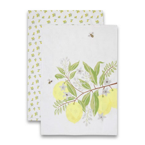 Olive and Lemons Tea Towels Set of 2