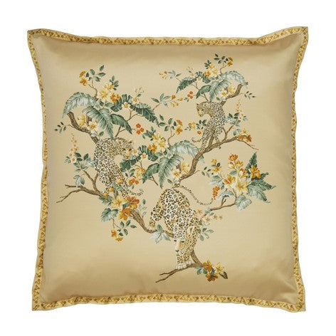 Florintine with Leopard Antique Gold Cushion