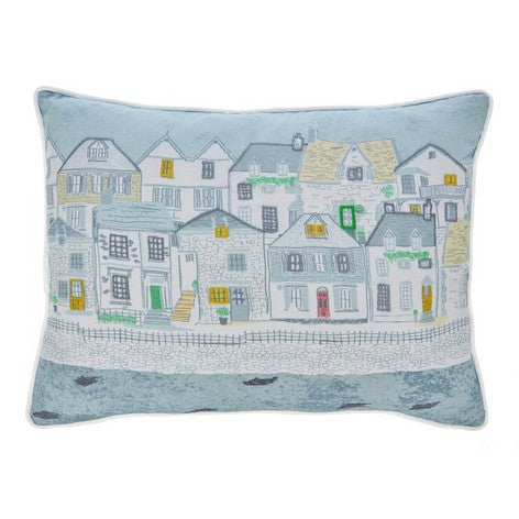 Harbour Houses Printed Cushion