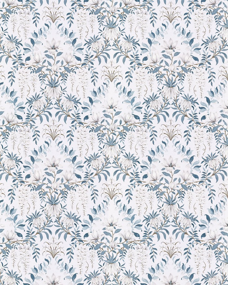 Parterre Off White/Seaspray Wallpaper