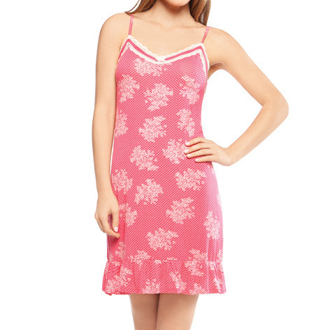 Pink Floral Print Chemise