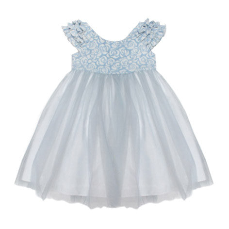 Cap Sleeve Brocade Toddler Dress