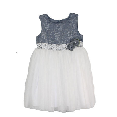 Sleeveless Embroidered Toddler Dress
