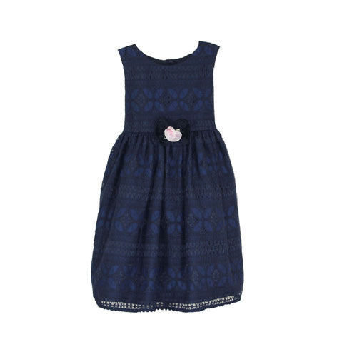 Sleeveless Lace Toddler Dress