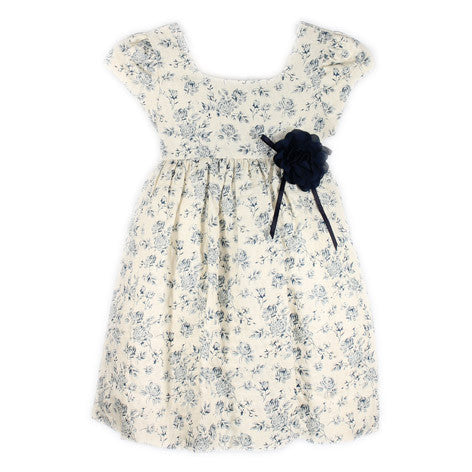 Cap Sleeve Floral Toddler Dress