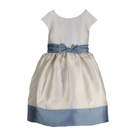 Cap Sleeve Satin Twill Monoblock Toddler Dress