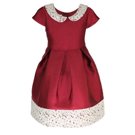 Satin Twill Peter Pan Collar Toddler Dress