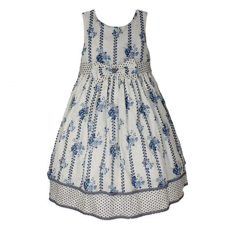 Sleeveless Clip Dot Floral Toddler Dress