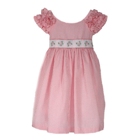 Ruffled Sleeve Seersucker Toddler Dress