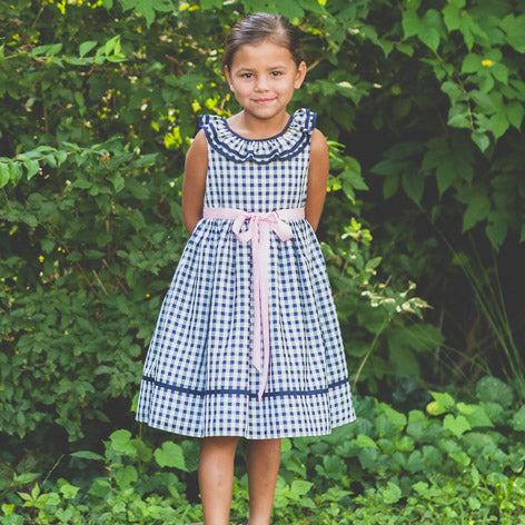 Check Chiffon Toddler Dress