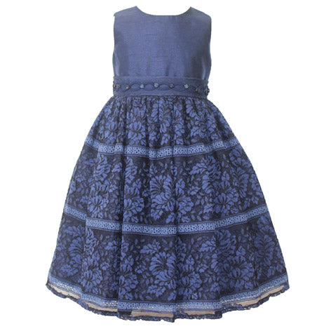 Shantung Toddler Lace Dress