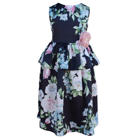 Sleeveless Floral Toddler Dress