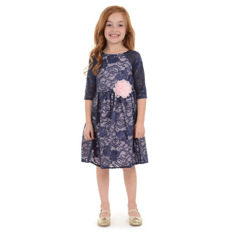 Lace Overlay Toddler Dress