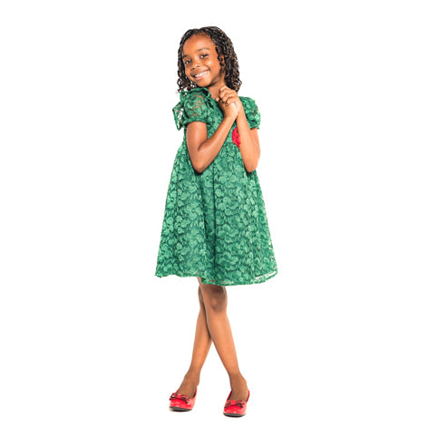 Green Lace Toddler Dress