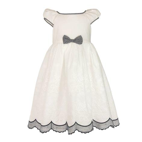 Cotton Voile Border Toddler Dress