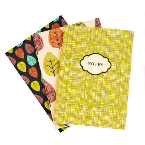 Fall Leaves 3 Pack Mini Journal Set