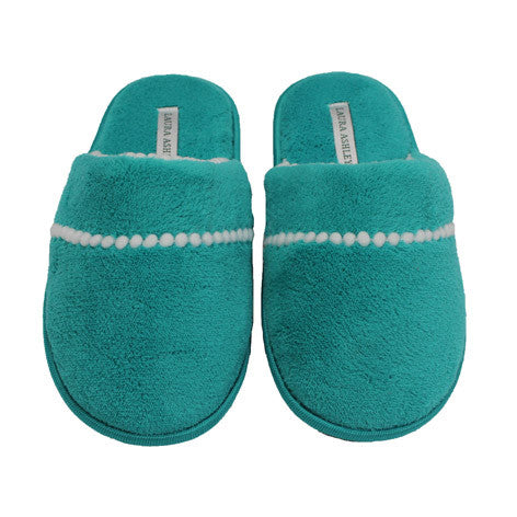 Mel Atlantis Green Terry Slipper