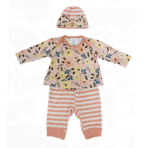 Newborn 3 Piece Harem Pant Set