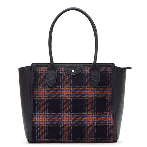 Moon British Wool Plaid Tote Bag